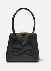 Mademoiselle small lizard-effect leather tote