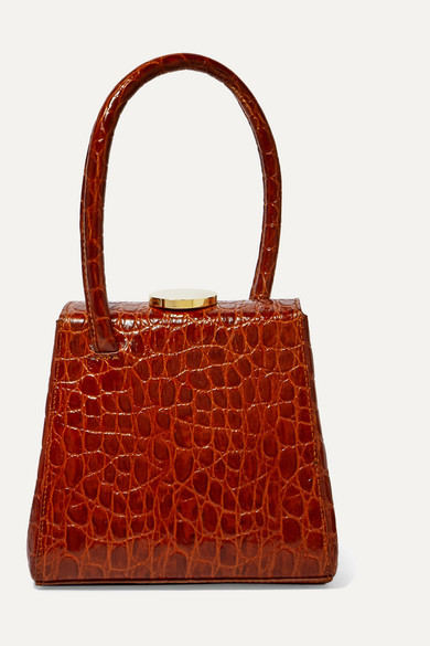 Little Liffner Totes Mademoiselle croc-effect leather tote