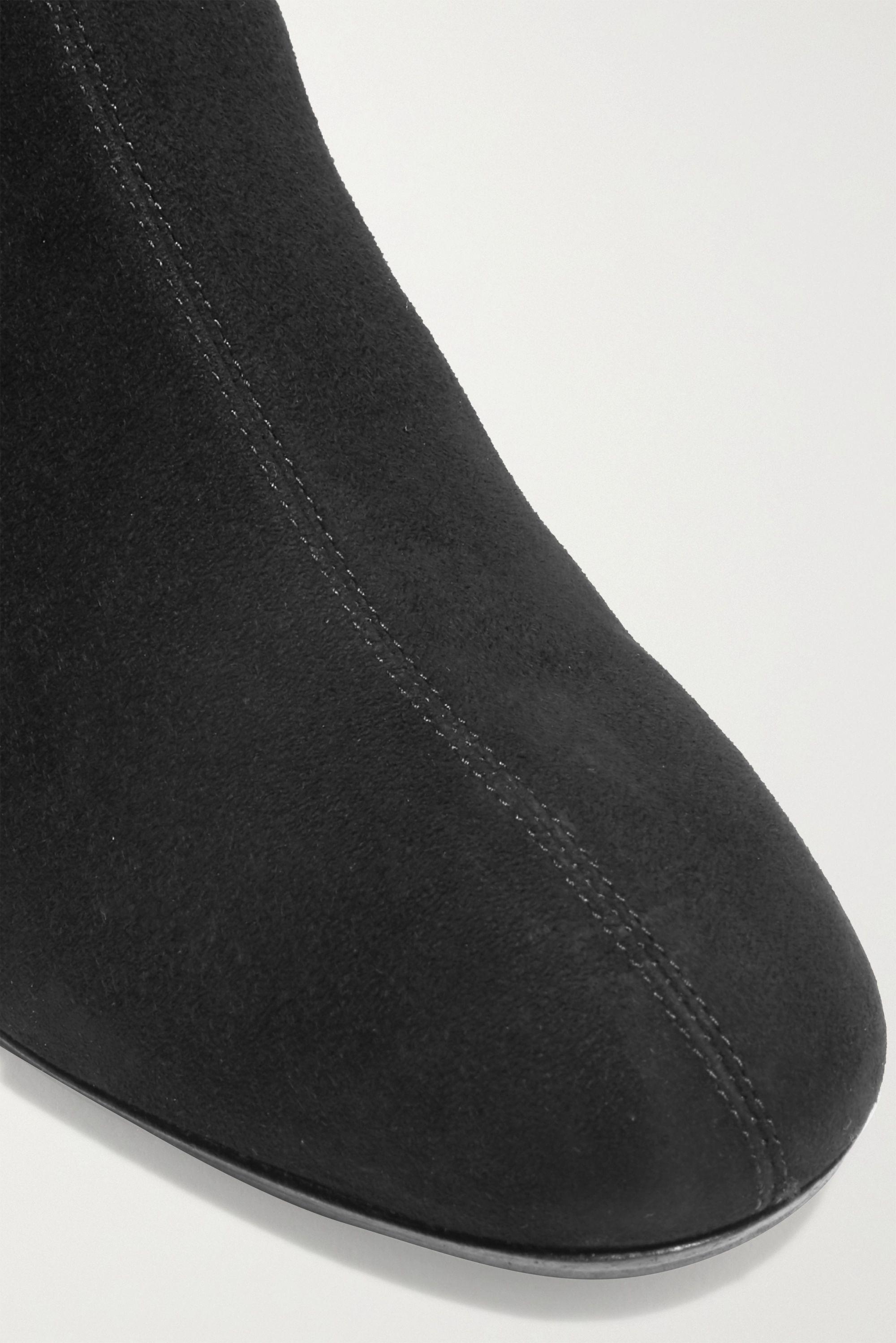Aquazzura Saint Honoré 50 suede sock boots