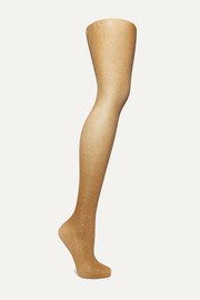 Highshine metallic 20 denier tights