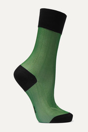 FALKE Mystical Radiance two-tone cotton-blend jersey socks