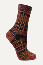 FALKE Moorland checked cotton-blend socks