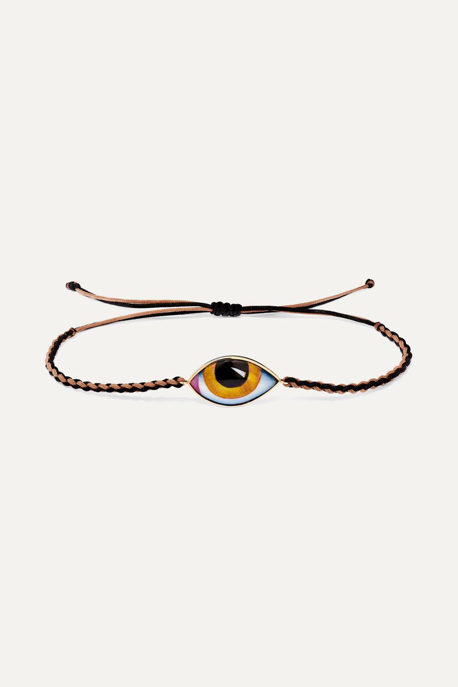 Lito Bracelet en or 14 carats, macramé et émail Tu Es Partout