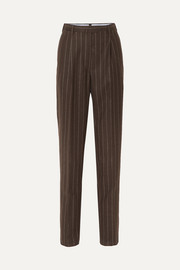Giuliva Heritage Collection Cornelia pinstriped wool tapered pants