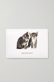 발렌시아가 Balenciaga Ville mini printed leather wallet
