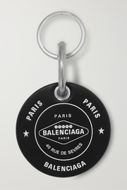 Casino printed leather keychain