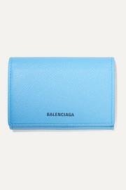 발렌시아가 Balenciaga Ville printed textured-leather cardholder