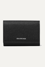 Balenciaga Ville printed textured-leather cardholder