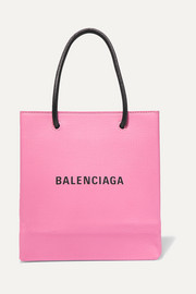 Balenciaga XXS printed textured-leather tote