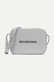 Balenciaga Everyday XS AJ printed glittered leather camera bag