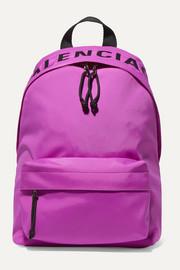 발렌시아가 Balenciaga Wheel embroidered shell backpack