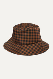 Ivy checked twill bucket hat