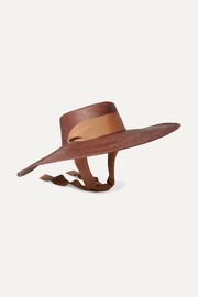 Cordovez oversized grosgrain-trimmed toquilla straw hat