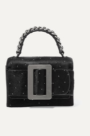 Fred Star buckled embellished calf hair shoulder bag