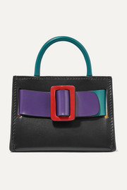 BOYY Bobby mini buckled color-block leather tote