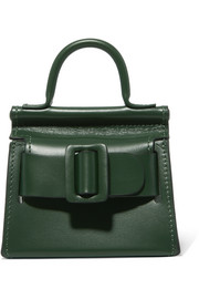 Karl mini buckled leather shoulder bag