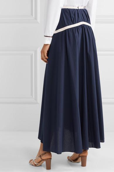Rosie Assoulin | Jupe longue en crêpe de coton Criss Cross