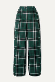 Wowzer checked woven straight-leg pants