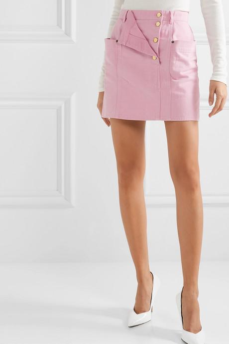 La Jupe de Nimes layered denim mini skirt