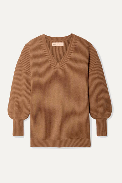 newest 93953 6f2b9 Napoli oversized ribbed cotton and cashmere-blend sweater