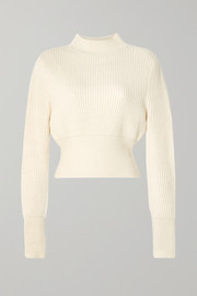 APIECE APART Dios ribbed cotton and cashmere-blend sweater