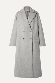 Oversized double-breasted wool-blend coat