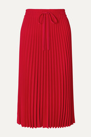 REDValentino Pleated crepe midi skirt