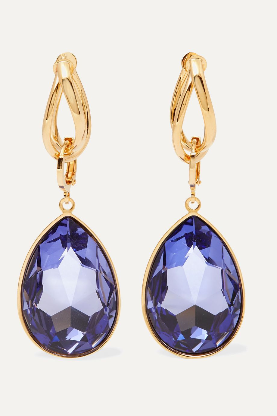 Mounser Night Sky gold-plated crystal earrings