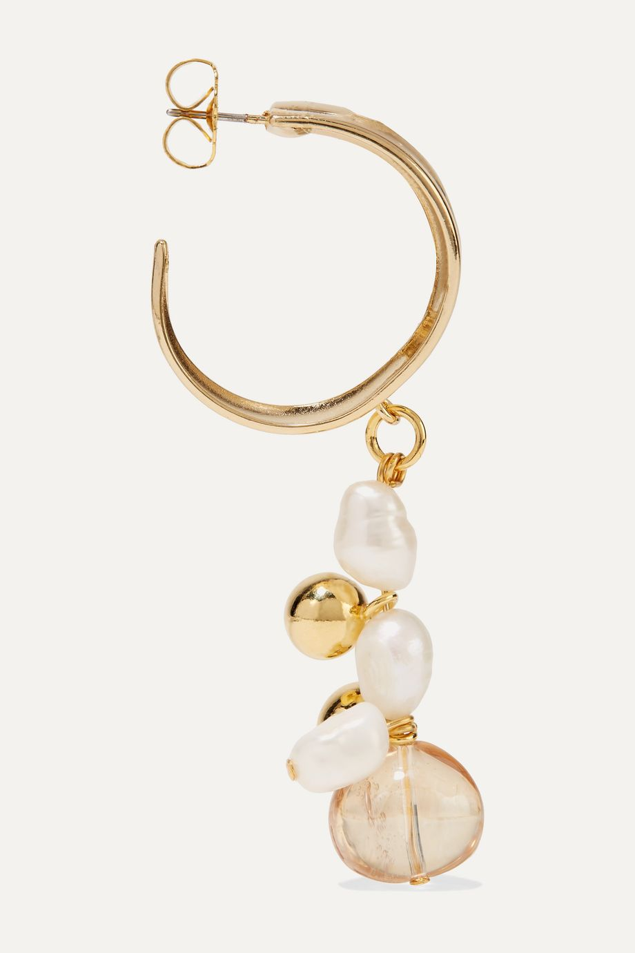 Mounser Cirrus gold-plated, pearl and glass earrings