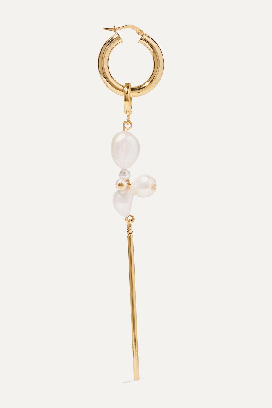 Mounser Golden Clouds vergoldete Creolen mit Perlen