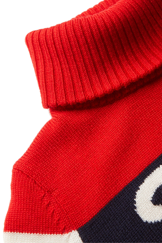 Perfect Moment Kids Pull à col roulé en laine mérinos intarsia Ski, 6-12 ans