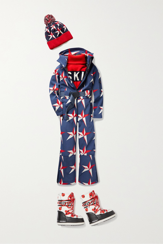 Perfect Moment Kids Combinaison de ski à capuche en tissu technique imprimé à ceinture, 6-12 ans