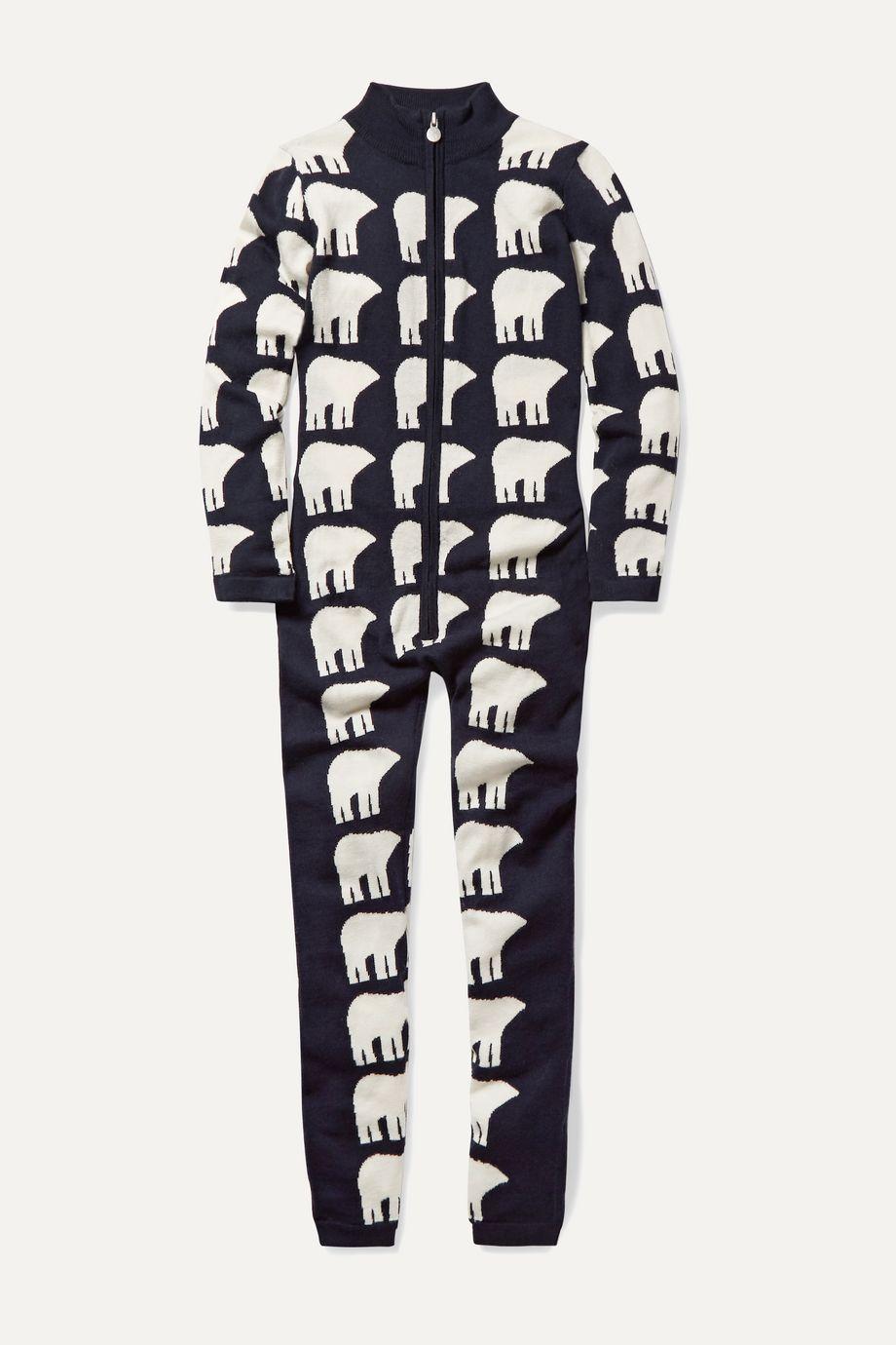 Perfect Moment Kids Ages 6 - 12 Star II intarsia merino wool jumpsuit