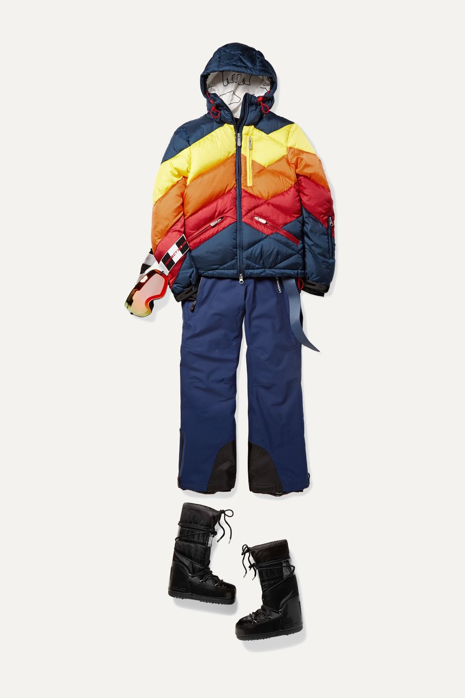 Perfect Moment Kids Ages 6 - 12 Superday II striped down ski jacket