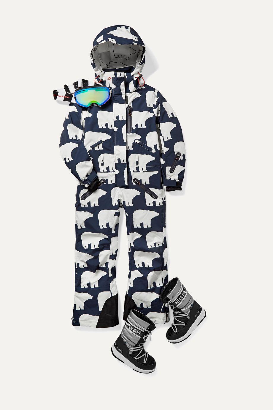 Perfect Moment Kids 【 6 - 12 岁】印花连帽滑雪服
