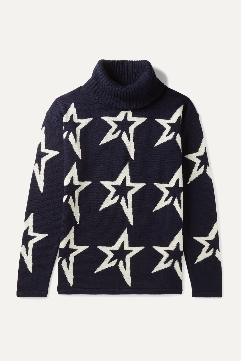 Perfect Moment Kids Ages 6 - 12 Star Dust intarsia merino wool turtleneck sweater