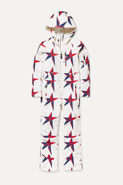 Perfect Moment Kids Ages 6 - 12 Allos hooded printed ski suit