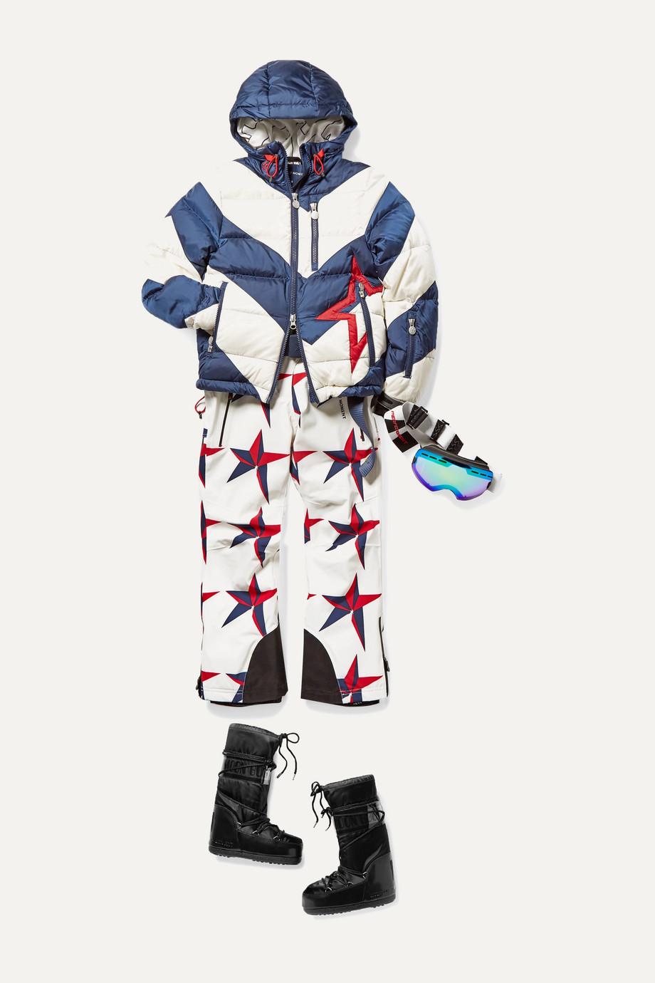 Perfect Moment Kids 【6 - 12 岁】Chamonix 印花填充滑雪裤