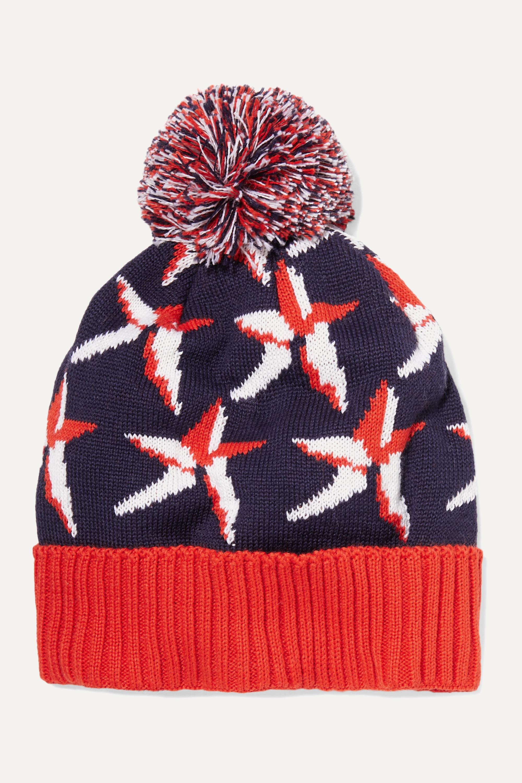 Perfect Moment Kids Bonnet en laine mérinos mélangée intarsia