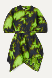 Marques' Almeida Belted asymmetric printed brocade mini dress
