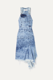 Marques' Almeida Asymmetric cutout denim midi dress
