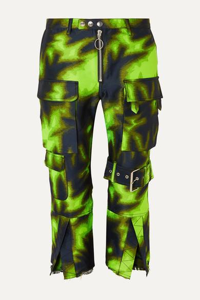 Cropped brocade straight-leg pants