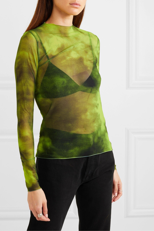 Marques' Almeida Tie-dyed stretch-mesh top