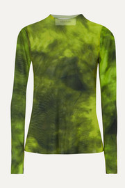 Marques' Almeida Tie-dyed stretch-mesh top