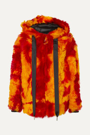 Marques' Almeida Hooded printed shearling jacket