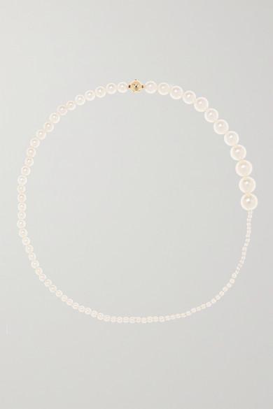 SOPHIE BILLE BRAHE | Sophie Bille Brahe - Peggy 14-Karat Gold Pearl Necklace - One Size | Goxip