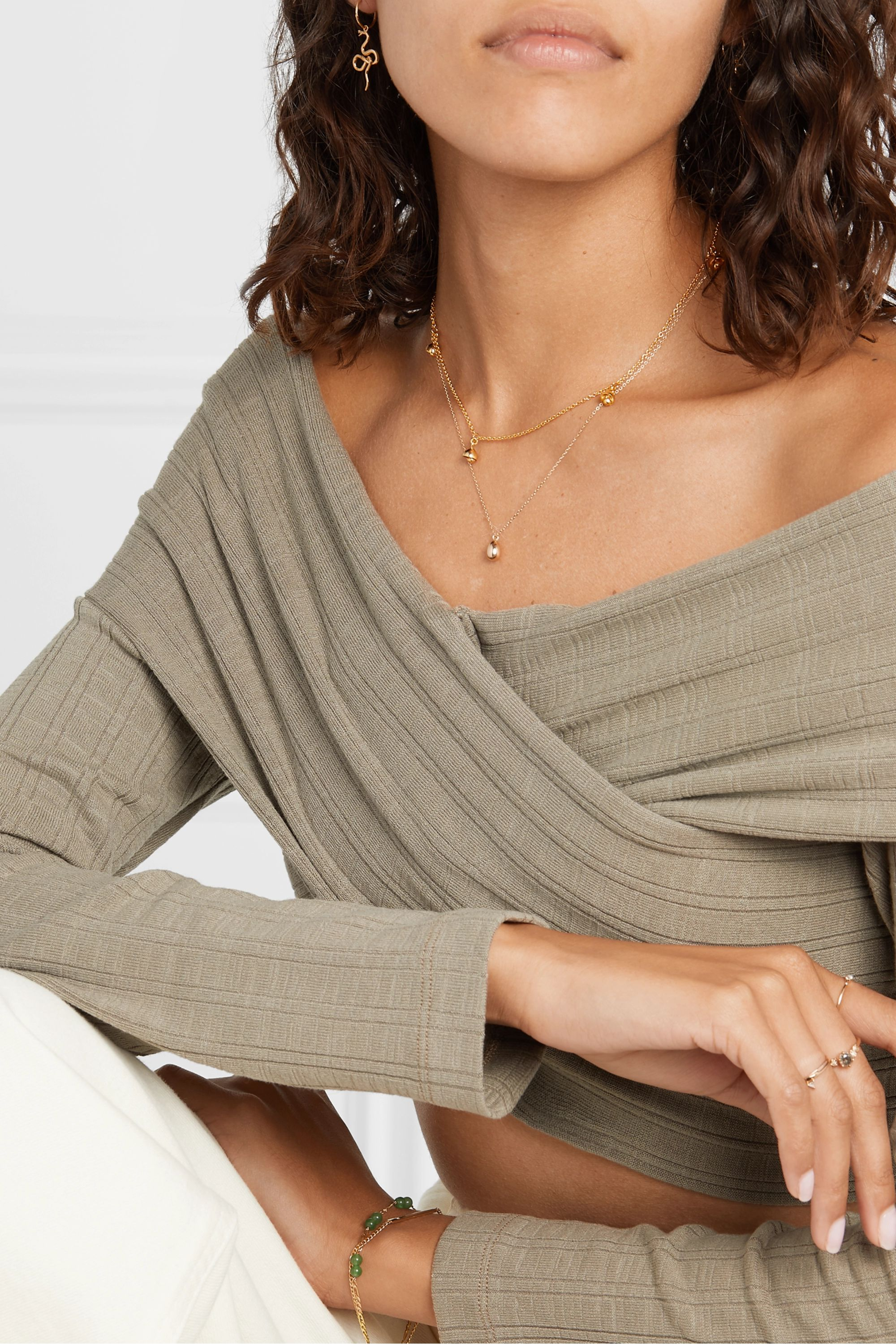 Meadowlark Bell gold-plated necklace