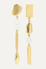 Meadowlark Thea gold-plated pearl earrings