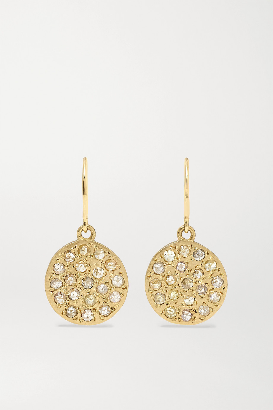 Brooke Gregson Mini Mars 14-karat gold diamond earrings