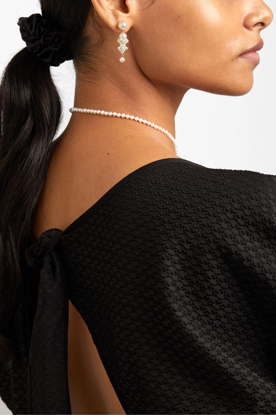 Sophie Bille Brahe + Cecilie Bahnsen Tulip 14-karat gold pearl earrings